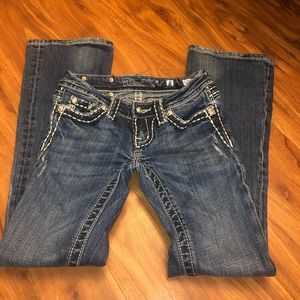 Girls Miss Me jeans bling size 8